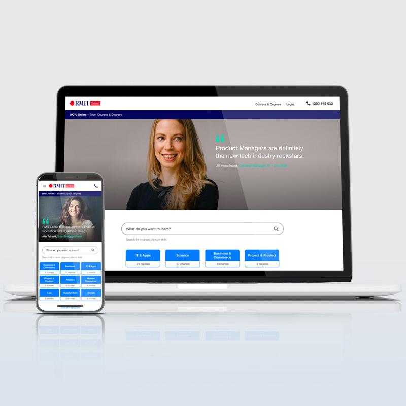 RMIT Online – Website Portfolio